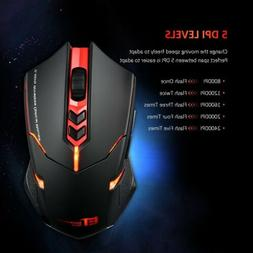 VicTsing Wireless Gaming Mouse Breathing Backlit Programmabl