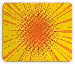 Spring morning Vintage Yellow Mouse Pad, Sun Burst with Half