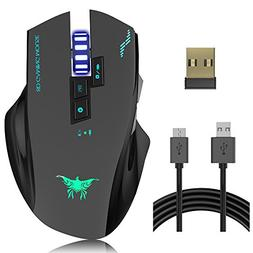 w100 rechargeable wireless wired gaming
