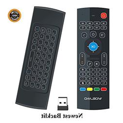 Wideland Backlit Air Remote Control, 2.4G Mini Wireless Keyb