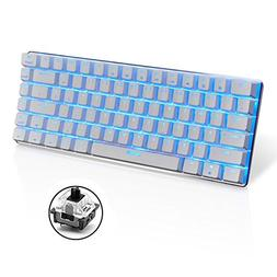 LexonElec Wired Gaming Keyboard Ajazz AK33 Blue LED Backlit