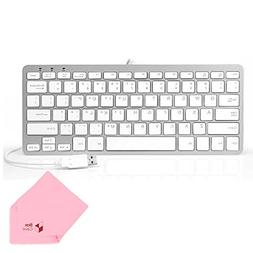 Boxcave 78 Key Wired USB Mini Slim Keyboard for PC, Notebook