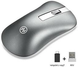 Wireless Bluetooth Mouse 2.4G Silent Rechargeable Optical US