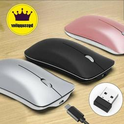 Wireless Bluetooth Mouse 2.4GHz Rechargeable Optical Mice Fo