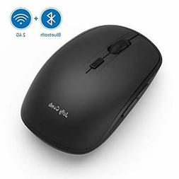 Wireless Bluetooth Mouse, Jelly Comb Dual Mode 4.0 Mouse 2.4