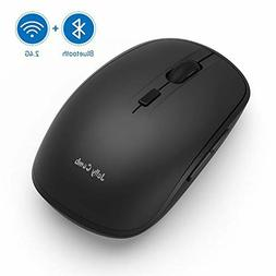 Wireless Bluetooth Mouse Jelly Comb Dual 4.0 Mode 2.4G 3 Adj