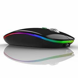 TENMOS Wireless Bluetooth Mouse, LED Slim Dual Mode (Bluetoo