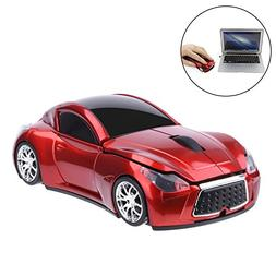 EIGIIS Wireless Car Mouse 2.4GHz Sports Car Mice With USB Re