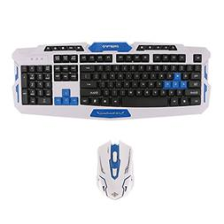 MagiDeal Wireless Gaming Keyboard and Mouse Set for PC With