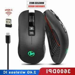 Wireless Gaming Mouse 3600 DPI 7Color Backlight Rechargeable