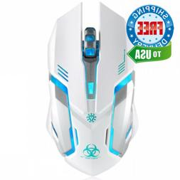 Wireless Gaming Mouse, VEGCOO C8 Silent Click Rechargeable C