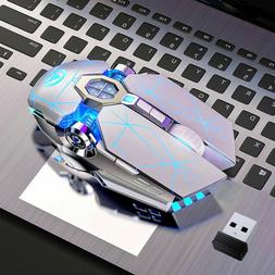 Wireless Gaming Mouse Color LED Mouse USB Backlit Rechargeab