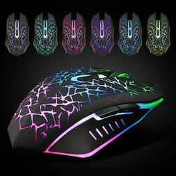 Wireless Gaming Mouse Professional Rechargeable Silent  Colo