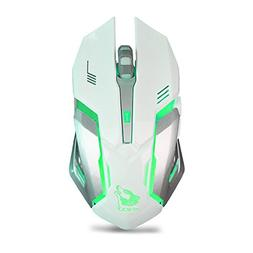 Wireless Gaming Mouse Rechargeable Silent LED Backlit USB Op