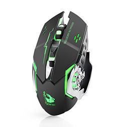 Wireless Gaming Mouse Rechargeable 1800DPI Silent LED Backli