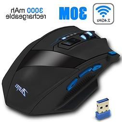Wireless Gaming Mouse Rechargeable Wireless/Wired Optical Ga