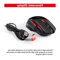Wireless Gaming Mouse Upgrade Edition Rechargeable Adjustabl