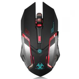 Wireless Gaming Mouse, VEGCOO C8 Silent Click Rechargeable w