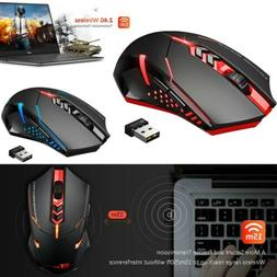 Wireless Gaming Mouse w/ Unique Silent Click Optical 2400 DP