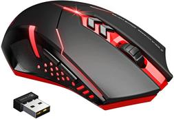 Victsing Wireless Gaming Mouse With Unique Silent Click, Bre