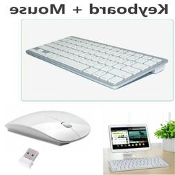 Wireless Keyboard & 2.4G Wireless Mouse w/ USB Receiver For