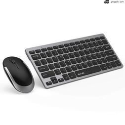 Wireless Keyboard and Mouse, Jelly Comb 2.4G Slim Compact