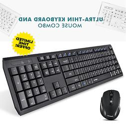 Wireless Keyboard and Mouse Combo Bluetooth Cordless Compute