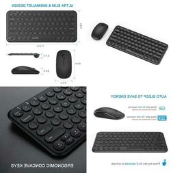 Wireless Keyboard And Mouse Combo, Jelly Comb Ks45 2.4Ghz Ul
