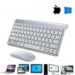 Wireless Keyboard And Mouse Combo Set USB Mini 2.4Ghz For Ma