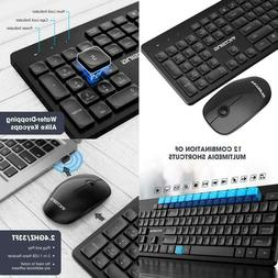 Victsing Wireless Keyboard And Mouse Combo, Silent Optical M