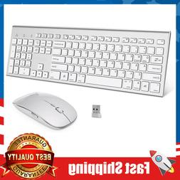 Wireless Keyboard&Mouse,Full-Size Whisper-Quiet Ergonomic fo