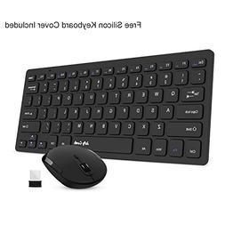 Wireless keyboard and Mouse, Jelly Comb 2.4G Slim Compact Sm