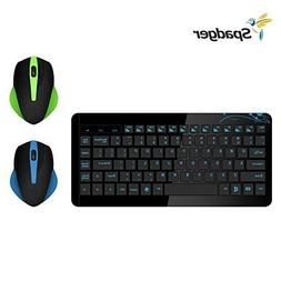 Spadger Wireless Keyboard and Mouse Combo 2.4GHz,Long Batt