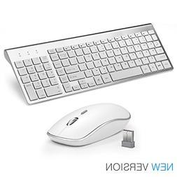 JOYACCESS Wireless Keyboard and Mouse Combo Full-size Whispe