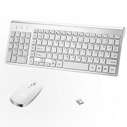 Wireless Keyboard Mouse, Sanhoton 2.4G Ultra Thin Portable W