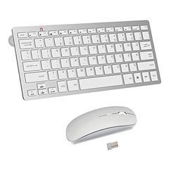 Wireless Keyboard and Mouse Combo,2.4G Ultra-Thin Mini Compa