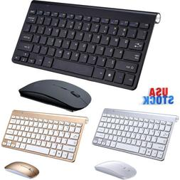 Wireless Keyboard Mouse Slim For Android Windows iOS Tablet