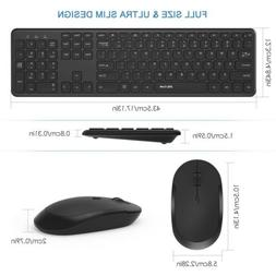 Jelly comb Wireless Keyboard Mouse, Thin Compact Portable Sm
