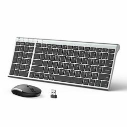 Wireless Keyboard Mouse Jelly Comb Ultra Slim Compact Full S