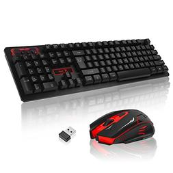 Wireless Keyboard 2.4GHz Ultra Compact Full Size Wireless Ke