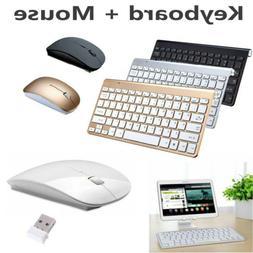 Wireless Keyboard W/ Mouse Combo Set 2.4G For Apple Mac PC L
