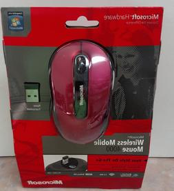 Microsoft Wireless Mobile Mouse 4000 ~ Ruby Red / Susan G Ko