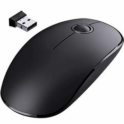 VicTsing Wireless Mouse, 2.4 G Slim Cordless Mouse with Nois