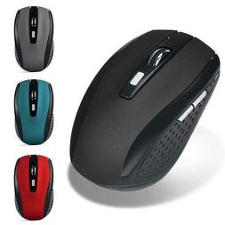 Wireless Mouse 2.4GHz 6 Keys Wireless Gaming Mouse USB Recei