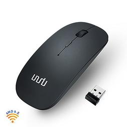 UHURU Rechargeable Wireless Mouse with 3 Adjustable DPI , 2.