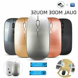 Wireless Mouse Bluetooth 5.0 USB Dual Mode Gaming Silent Mic