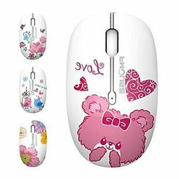 M101 Wireless Mouse Cute Silent Computer Mice with USB Recei