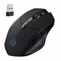 inphic Wireless Mouse, Egonomic Rechargeable 2.4G Gaming