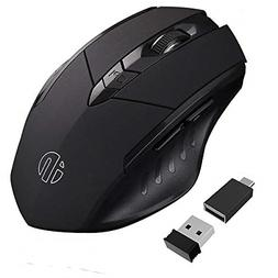 inphic Wireless Mouse, Egonomic Rechargeable 2.4G Gaming Cor