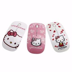 Wireless Mouse Hello Kitty Pink Mice mult. colors 2.4GHz